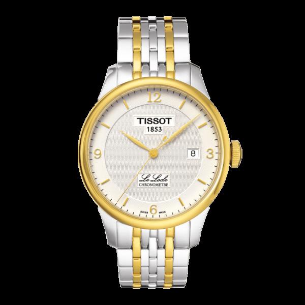 TISSOT天梭T0064082203700 天文台認證力洛克雙色經典數字機械腕錶/白面39.3mm