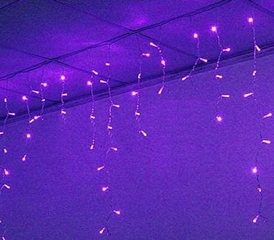 訂製品★LED窗簾燈 紫色 110V/220V (100顆燈)3X0.9米★永旭照明5A1-CM26P005(B)