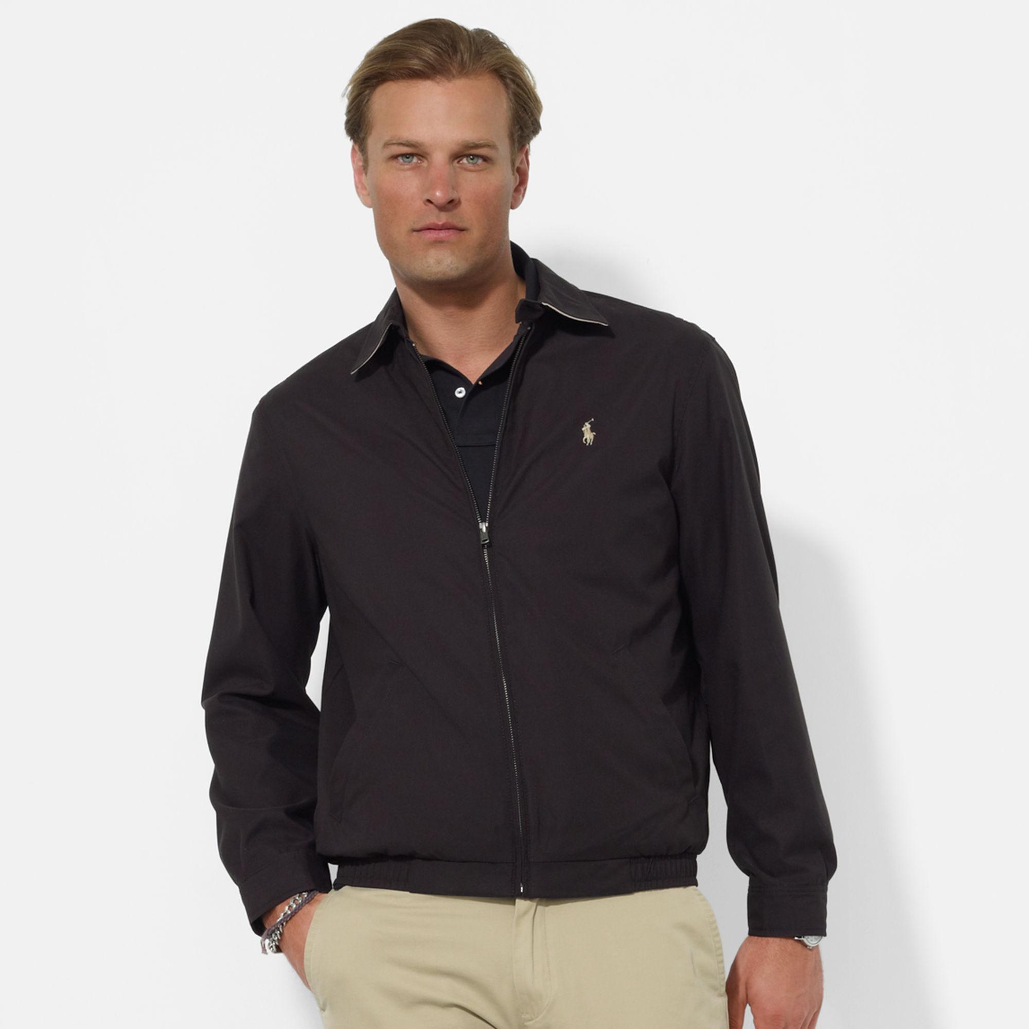 美國百分百【全新真品】Ralph Lauren 外套 RL 男 polo 專櫃款 立領夾克 風衣 黑色 S M號 B035