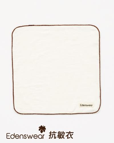 ★衛立兒生活館★E.Dens伊登詩 鋅纖維抗敏系列-嬰兒口水巾(白)