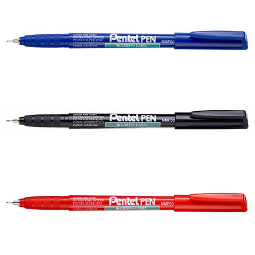 【PENTEL 】NMF50黑 極細環保油性筆0.5mm