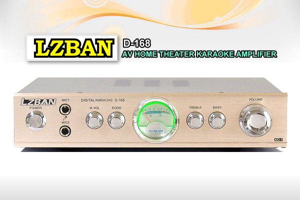 LZBAN迷你卡拉OK擴大機D-168,雙麥克風孔/小體積.大出力/AV輸入.輸出