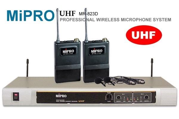 MIPRO 『嘉強』UHF超高頻無線麥克風MR-823,雙領夾式麥克風設計
