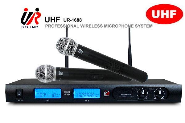 Promic/UR 超高頻UHF無線麥克風UR-1688,具平衡與非平衡輸出/LCD顯示