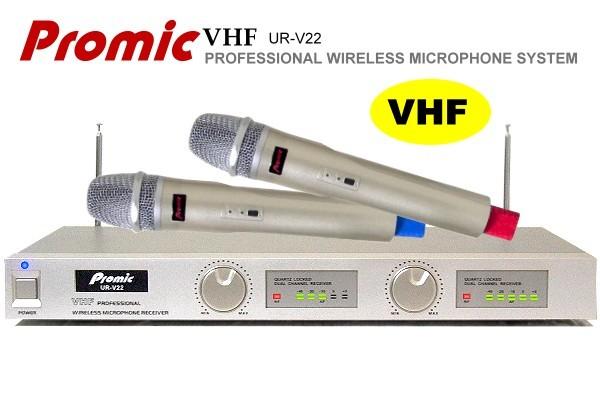 台製,Promic超高頻無線麥克風UR-V22,卡拉OK專用/雙頻石英鎖碼