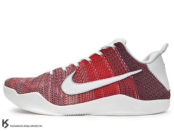 2016 限量登場 FLYKNIT 鞋面科技再進化 NIKE KOBE XI 11 ELITE LOW  4KB RED HORSE 低筒 紅白 紅馬 刮刮樂 Kobe Bryant 籃球鞋 LUNARLON + ZOOM AIR 鞋墊 超強抓地外底 (824463-606) !