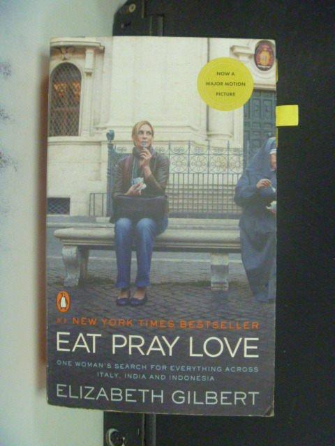 【書寶二手書T9/一般小說_GRO】Eat, Pray, Love_Elizabeth Gilbert
