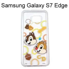 迪士尼透明軟殼 [形狀] 奇奇&蒂蒂 Samsung G935FD Galaxy S7 Edge【Disney正版授權】