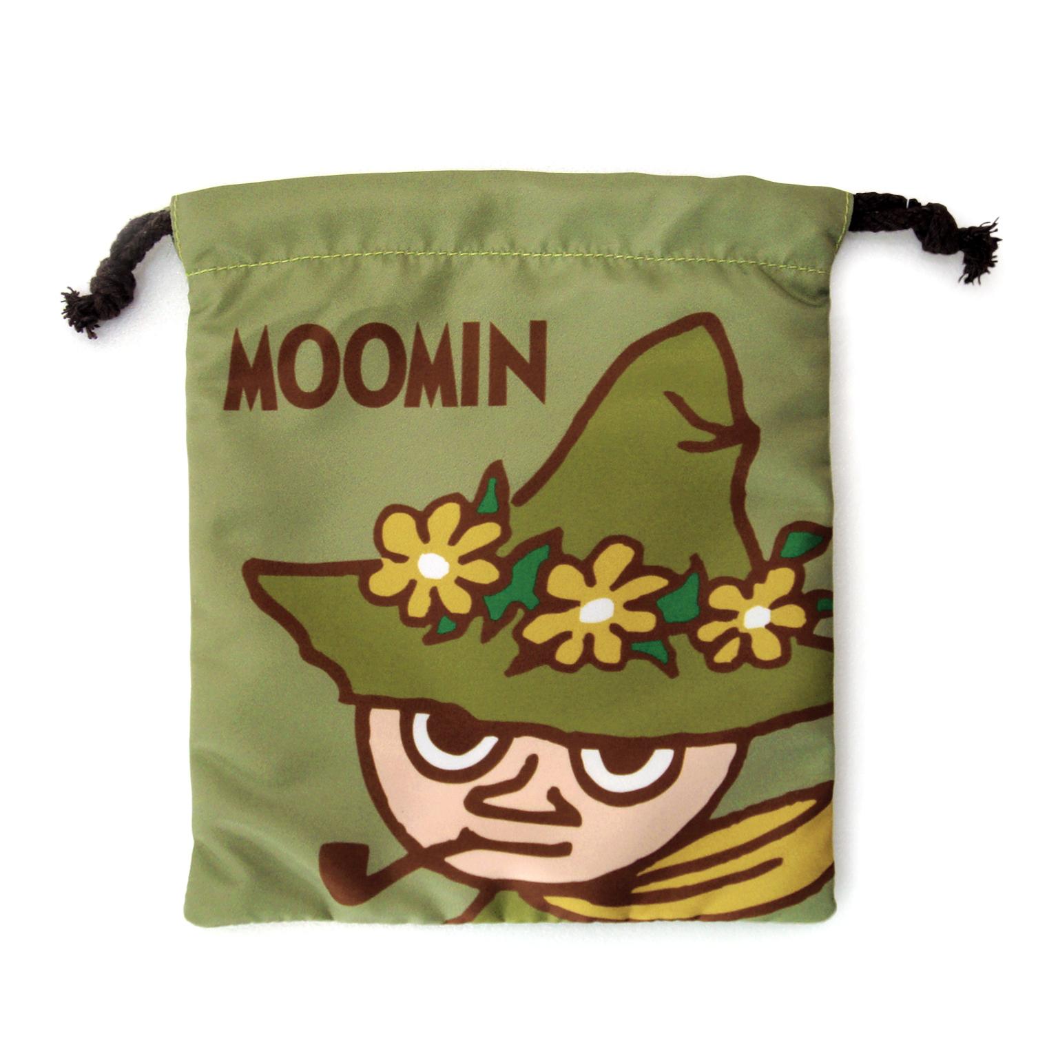 【禾宜精品】正版 Moomin 嚕嚕米 阿金(綠色) 束口袋 束口包 小提袋 時尚包 生活百貨 M102033-F