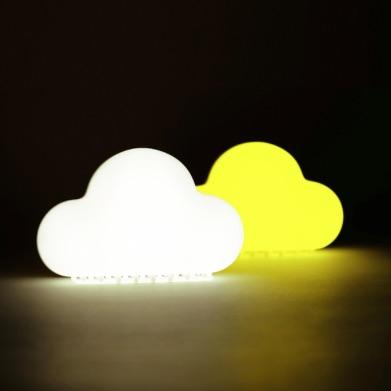 雲朵聲控創意節能小夜燈(白/黃光)USB充電 無線 寶寶臥室嬰兒床頭安撫燈 led開關小夜燈 氛圍燈 溫馨閱讀燈 桌燈 露營燈