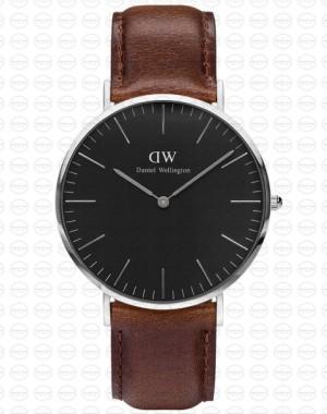 40MM 0131DW 黑錶面 真皮深咖啡錶帶 瑞典正品代購 Daniel Wellington 男錶手錶腕錶