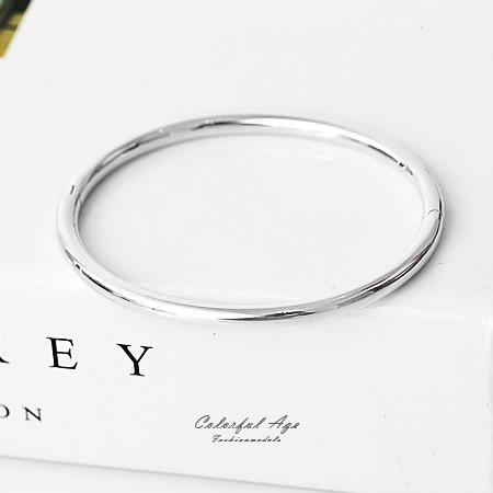 925純銀手鍊 素雅亮面橢圓形手環 可混搭手錶或單配 都會女伶氣質感 柒彩年代【NPA11】可打開好配戴