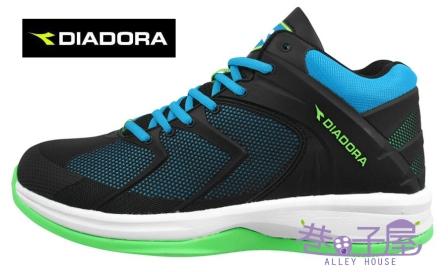 【巷子屋】義大利國寶鞋-DIADORA迪亞多納 男鞋幻影先鋒輕量籃球鞋 [2606] 黑藍 超值價$1036