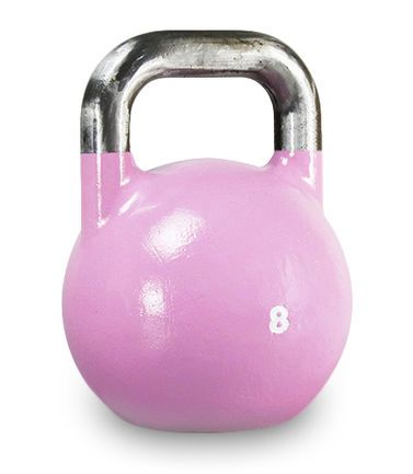 XOANON - 競技壺鈴、粉紅色壺鈴、專業壺鈴8公斤、壺鈴、競技壺鈴8公斤