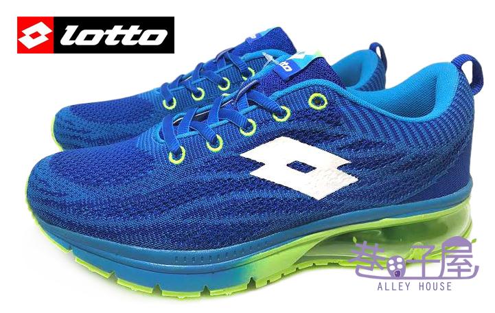 【巷子屋】義大利第一品牌-LOTTO 男款WAVEKNIT編織氣墊慢跑鞋 [2566] 藍 超值價$690