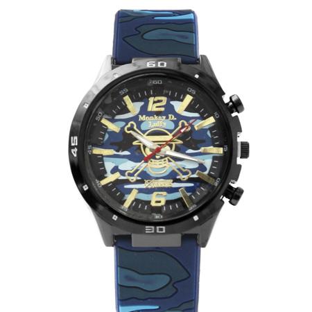 海賊王手錶 海賊旗圖案迷彩膠錶手錶 One Piece 禮物首選 柒彩年代【NE1502】原廠平行輸入