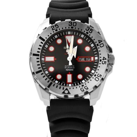 SEIKO百米防水機械錶橡膠錶帶