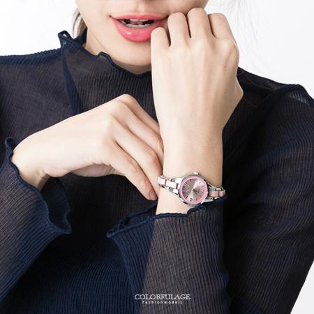 手錶 甜美繽紛糖果色系設計氣質小巧鍊錶腕錶 仿陶瓷錶帶摺疊扣錶扣 柒彩年代【NE1555】