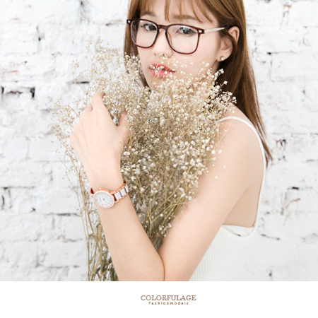 手錶 熱銷玫瑰金簡約配色氣質女孩專屬腕錶 典雅乾淨 仿陶瓷錶帶 柒彩年代【NE1542】單支價格