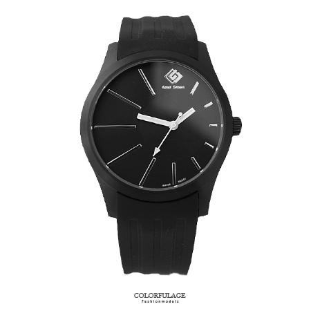 手錶 質感沉穩黑色偏心錶盤設計 搭戴SEIKO精工VX43石英機芯 柒彩年代【NE1470】單支售價