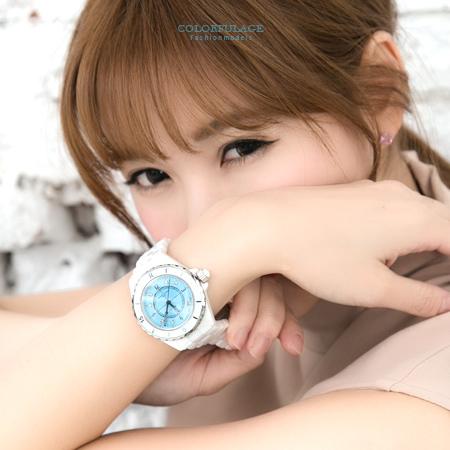 范倫白色全陶瓷錶