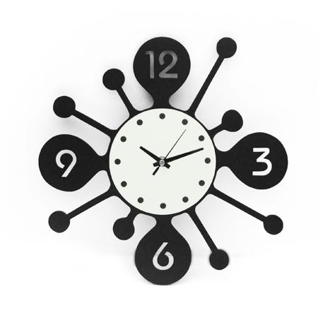 時鐘 藝術感圓圈概念鏤空數字木質掛鐘壁鐘 時尚居家生活 柒彩年代 台灣製造【NE1537】創意家飾