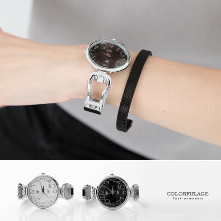 水鑽鏤空造型手環腕錶