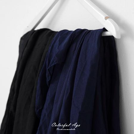 圍巾 棉麻純色大絲巾 柒彩年代【NMD1】