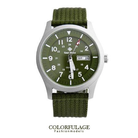 尼龍帆布手錶 SEIKO精工VX43石英機芯 帥氣型男 錶盤夜光刻度帆布軍用腕錶【NE1259】柒彩年代