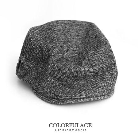 秋冬棉質型男鴨舌帽 扁帽 紳士帽 小偷帽 輕巧搭配超有個性 柒彩年代【NH148】  簡約素面時尚灰色