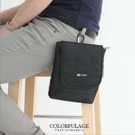 街頭腰包.掛包實用隨身側背包 型男潮流百搭低調黑色系 柒彩年代【NZ394】質感尼龍