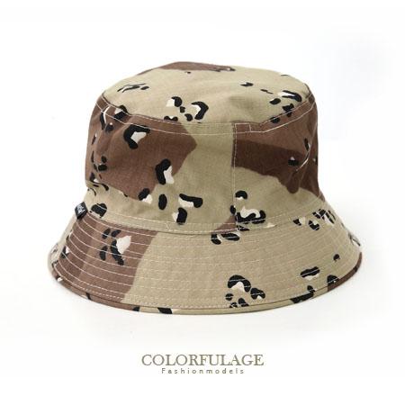 迷彩戶外潮流漁夫帽 遮陽帽 紳士帽 漆彈旅遊戶外都適合 柒彩年代【NH155】透氣棉料