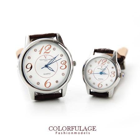 Valentino范倫鐵諾水鑽真皮錶