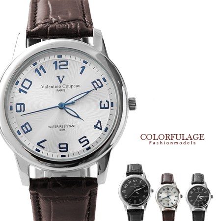 Valentino范倫鐵諾光碟錶盤腕錶