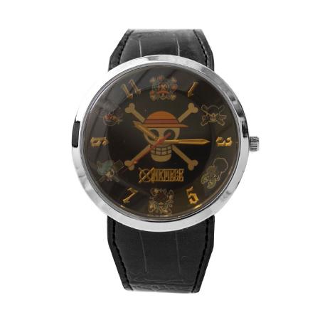 海賊王手錶 草帽海賊旗個性皮革錶 One Piece 品質穩定 禮物首選 柒彩年代【NE1485】原廠平行輸入