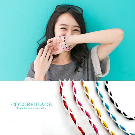柒彩年代【NA92】超熱賣編織手環超方便~多色澤男女都適合~衝浪海邊.單條