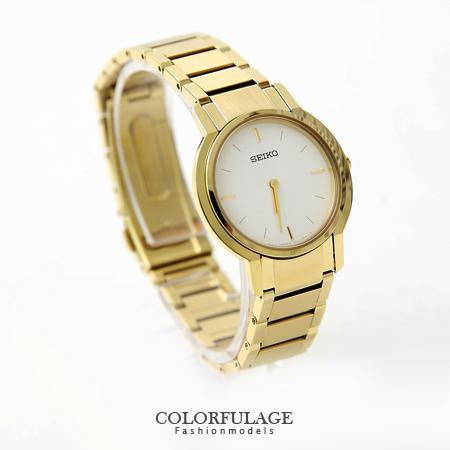 耀眼金色SEIKO獨家限量款腕錶 高品質全不銹鋼手錶 柒彩年代【NE1141】附贈禮盒+提袋
