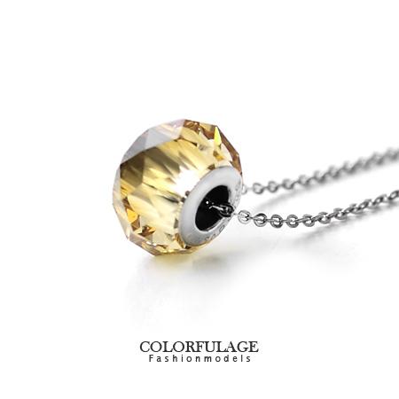 施華洛世奇水晶項鍊 採用Swarovski華麗切割面短墜 抗過敏.氧化 柒彩年代【NB584】