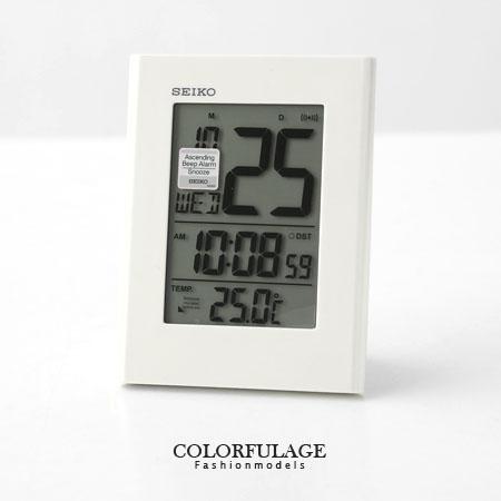 日本品牌SEIKO精工電子式鬧鐘 冷光液晶顯示大字座鐘 居家 柒彩年代【NE1195】原廠公司貨