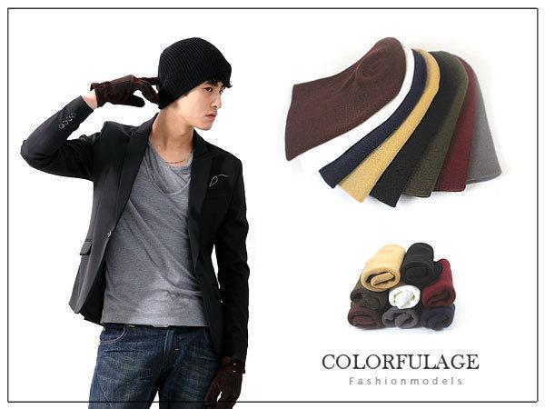 柒彩年代【NH35】型男可反摺保暖厚實長版毛帽 韓版品味~單頂價格