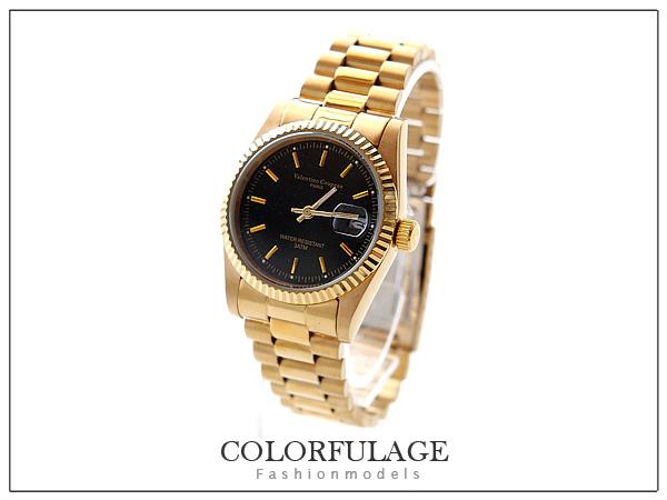 柒彩年代【NE215】全金范倫鐵諾不鏽鋼錶帶+錶殼~時尚穩重