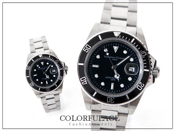 范倫鐵諾不繡鋼手錶