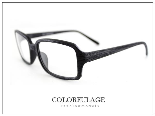 柒彩年代【NY127】我可能不會愛你 林依晨(程又青)著用仿木復古方框眼鏡 小資女孩~單支