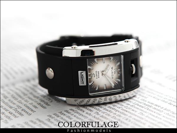 柒彩年代【NE421】JAGA捷卡石英冷光運動錶 個性型男手錶防水30米當兵著用~原廠公司貨