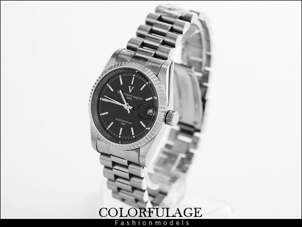 柒彩年代【AE431】范倫鐵諾Valentino自動機械手錶 實心全不銹鋼錶帶 型男專櫃腕錶~單支