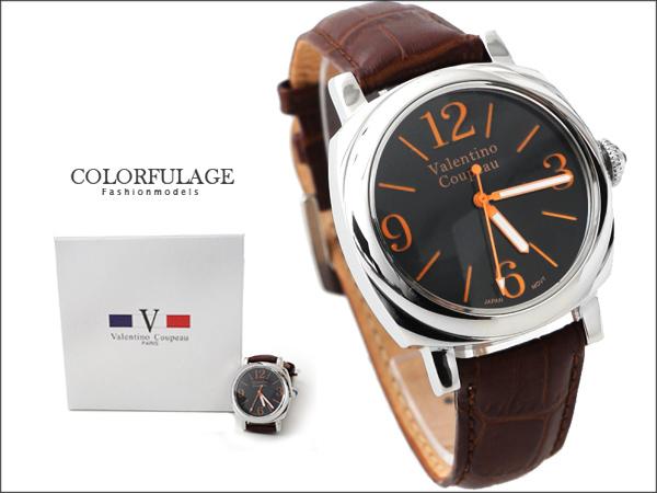 柒彩年代。時尚品味型男大錶殼設計款不鏽鋼手錶 范倫鐵諾Valentino 【NE772】單隻