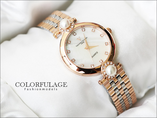 Valentino范倫鐵諾名媛珍珠錶