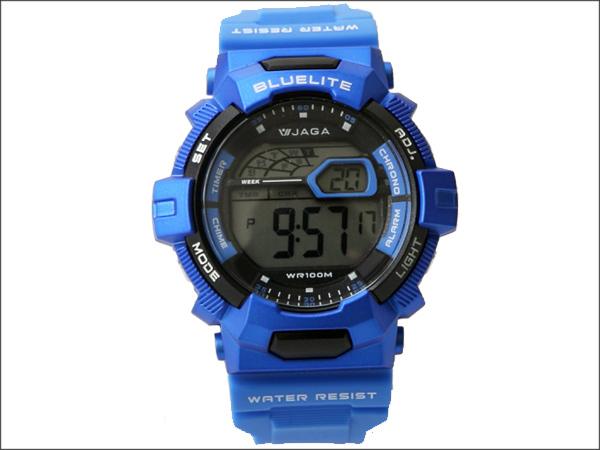 JAGA捷卡多功能流線電子手錶 防水高達100米 型男必搭錶 柒彩年代【NE722】單支