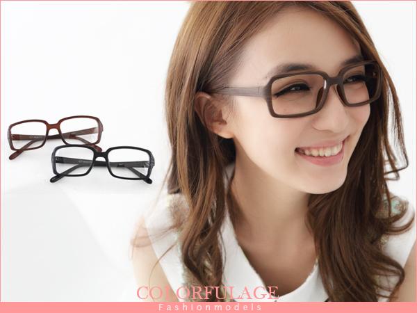 我可能不會愛你 程又青著用仿木復古方框眼鏡 小資女孩 柒彩年代【NY127】單支