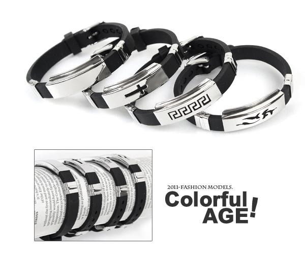 柒彩年代【NA98】西德316L鋼錶帶式手環.無限制手圍都可配戴~日本街頭潮流時尚情侶對鍊
